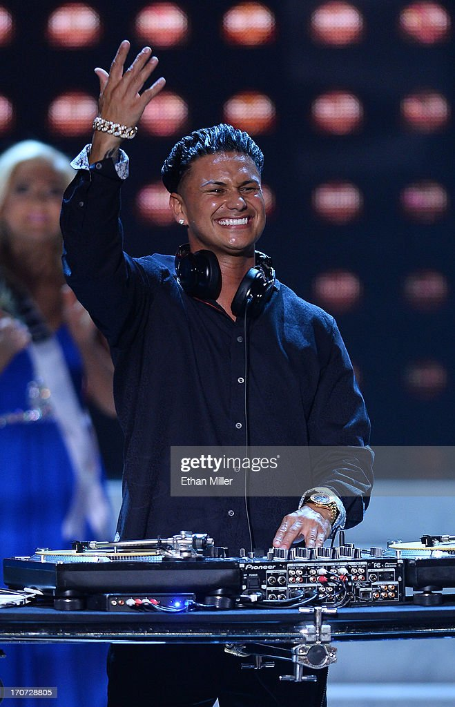 DJ Paul 'Pauly D' DelVecchio performs during the 2013 Miss USA pageant at PH Live at Planet Hollywood Resort & Casino on June 16, 2013 in Las Vegas, Nevada.