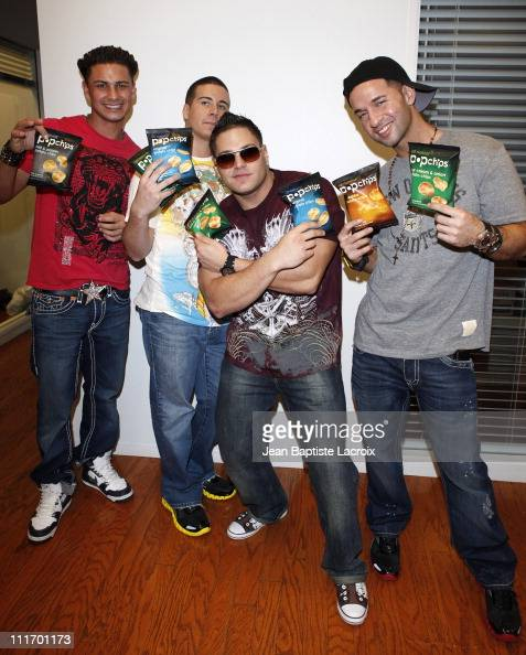 Paul 'Pauly D' DelVecchio Vinny Guadagnino Ronnie OrtizMagro and Michael 'The Situation' Sorrentino from ''Jersey Shore'' are seen at the popchips...