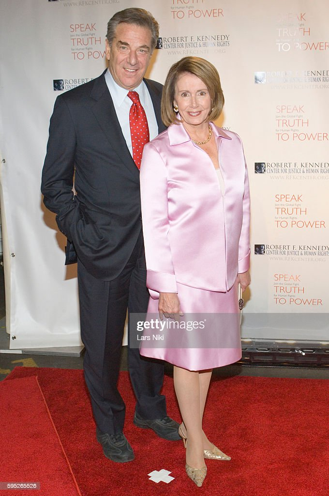 Paul Pelosi and Nancy Pelosi attend the 'Robert F Kennedy Center For Justice Human Rights Bridge Dedication Gala' at Pier 60 in New York City