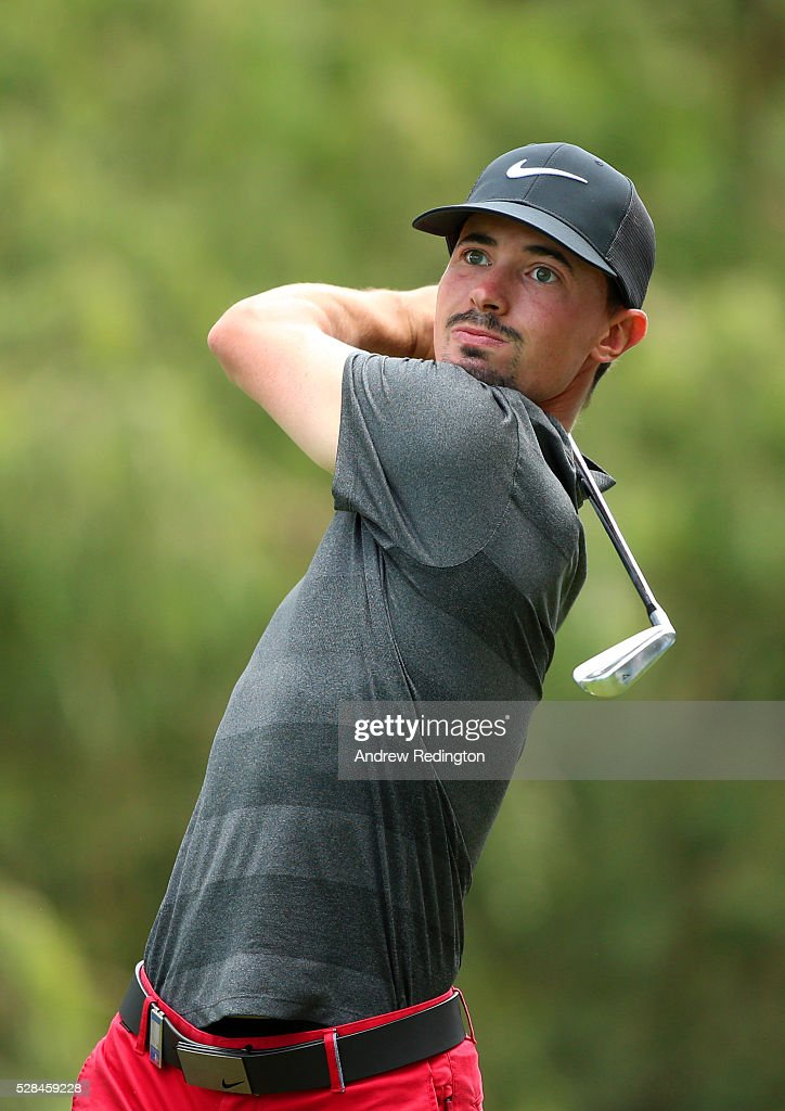 Paul Peterson of the United States hits his tee shot on the 2nd during the first round of the Trophee Hassan II at Royal Golf Dar Es Salam on May 5, 2016 in Rabat, Morocco.