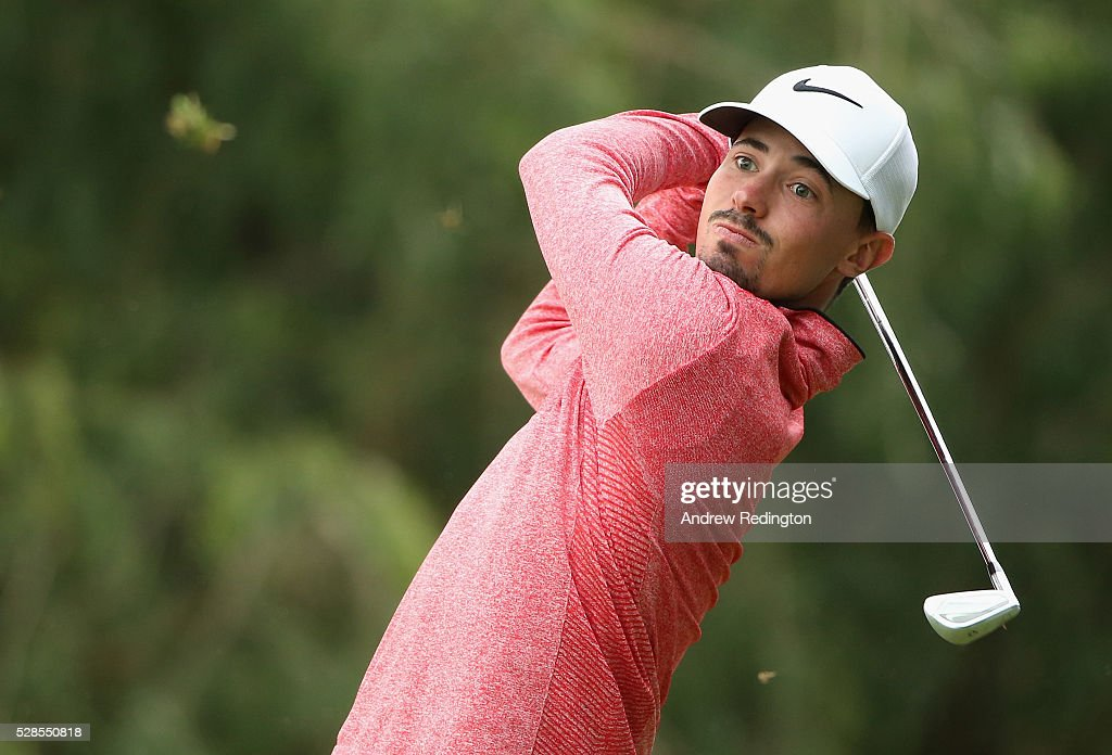 Paul Peterson of the USA hits his tee-shot on the second hole during the second round of the Trophee Hassan II at Royal Golf Dar Es Salam on May 6, 2016 in Rabat, Morocco.