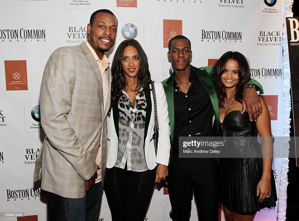 <a gi-track='captionPersonalityLinkClicked' href=/galleries/search?phrase=Paul+Pierce&family=editorial&specificpeople=201562 ng-click='$event.stopPropagation()'>Paul Pierce</a>, Julie Pierce, <a gi-track='captionPersonalityLinkClicked' href=/galleries/search?phrase=Rajon+Rondo&family=editorial&specificpeople=206983 ng-click='$event.stopPropagation()'>Rajon Rondo</a> and Ashley Bachelor arrive as Boston Common Magazine Celebrates Boston Celtics Star <a gi-track='captionPersonalityLinkClicked' href=/galleries/search?phrase=Rajon+Rondo&family=editorial&specificpeople=206983 ng-click='$event.stopPropagation()'>Rajon Rondo</a> at The Liberty Hotel on October 10, 2012 in Boston, Massachusetts.