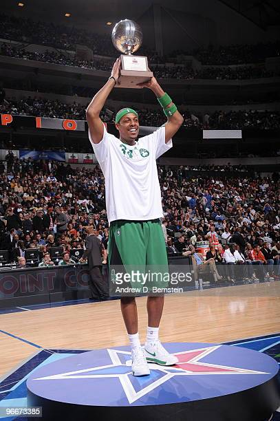 Paul Pierce of the Boston Celtics wins the 2010 Foot Locker ThreePoint Contest on AllStar Saturday Night part of 2010 NBA AllStar Weekend at American...