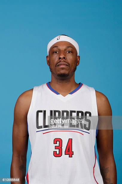 Paul Pierce of the Los Angeles Clippers poses for a head shot during the 20162017 Los Angeles Clippers Media Day on September 26 2016 at Los Angeles...