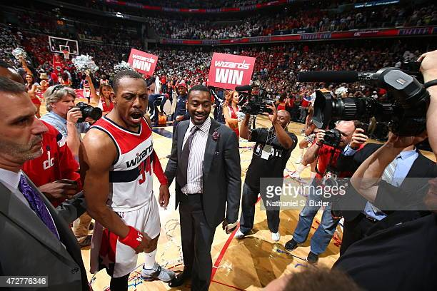 Paul Pierce of the Washington Wizards after hitting the game winning shot against the Atlanta Hawks in Game Three of the Eastern Conference...