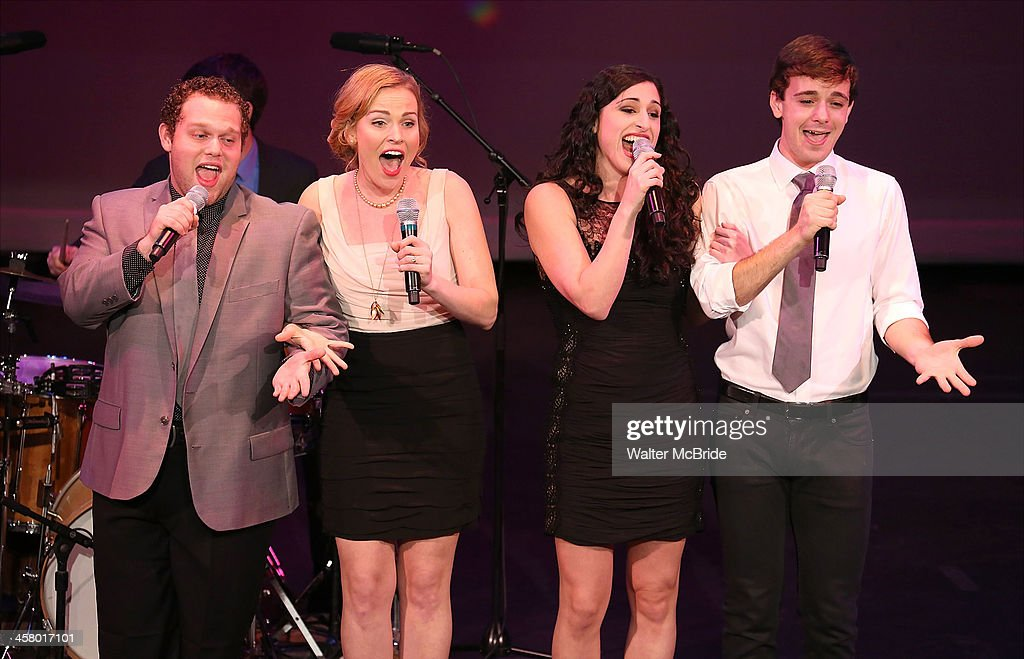 Paul Pilcz, Tiffan Borelli, Jennifer Apple and Stephen Anthony perform at the 22nd annual Oscar Hammerstein Award gala at The Hudson Theatre on December 9, 2013 in New York City.
