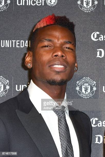 Paul Pogba attends the United for Unicef Gala Dinner at Old Trafford on November 15 2017 in Manchester England