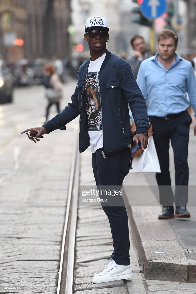 <a gi-track='captionPersonalityLinkClicked' href=/galleries/search?phrase=Paul+Pogba&family=editorial&specificpeople=5805302 ng-click='$event.stopPropagation()'>Paul Pogba</a> is seen on April 12, 2014 in Milan, Italy.