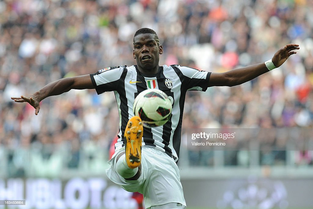 <a gi-track='captionPersonalityLinkClicked' href=/galleries/search?phrase=Paul+Pogba&family=editorial&specificpeople=5805302 ng-click='$event.stopPropagation()'>Paul Pogba</a> of FC Juventus in action during the Serie A match between FC Juventus and Calcio Catania at Juventus Arena on March 10, 2013 in Turin, Italy.