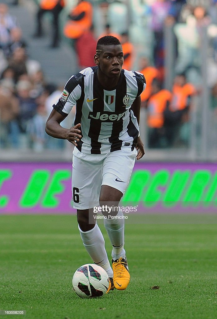 Paul Pogba of FC Juventus in action during the Serie A match between FC Juventus and Calcio Catania at Juventus Arena on March 10, 2013 in Turin, Italy.