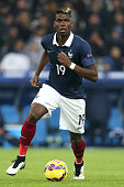 Paul Pogba of France in action during the international friendly match between France and Sweden at the New Stade Velodrome on November 18 2014 in...