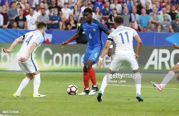 Paul Pogba of France in action during the International Friendly match between France and England at Stade de France on June 13 2017 in Paris France