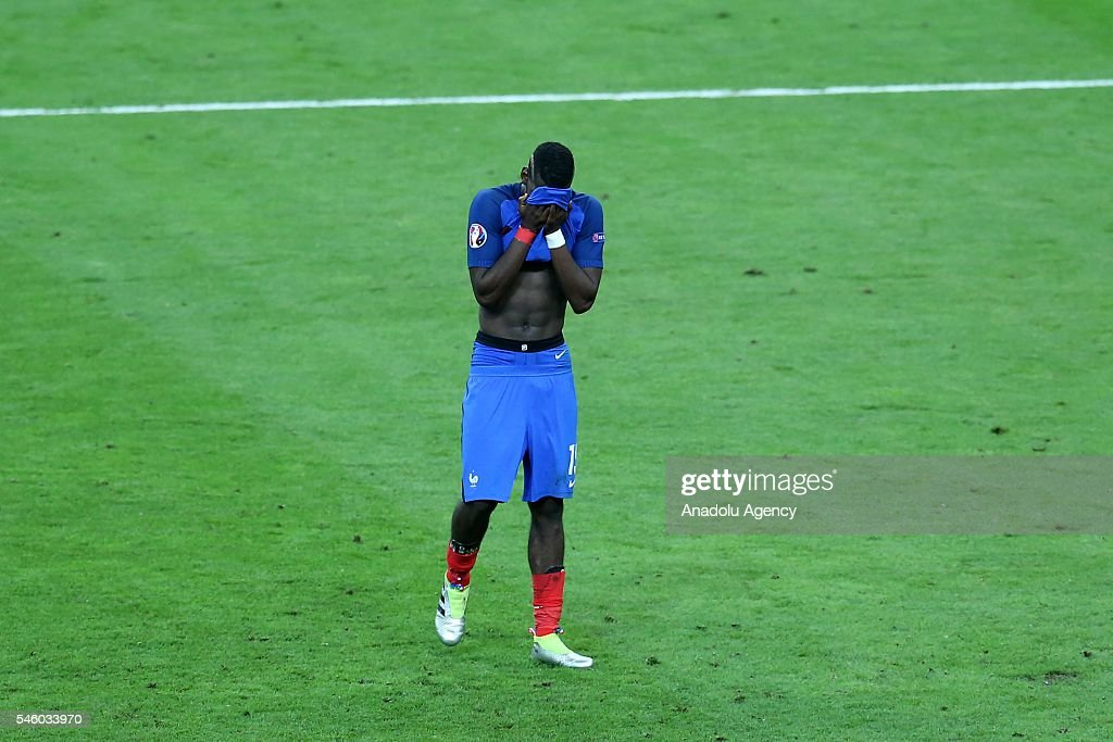 Paul Pogba of France is seen after Portugal won the Euro 2016 final football match at the Stade de France in Saint-Denis, north of Paris, France on July 10, 2016.