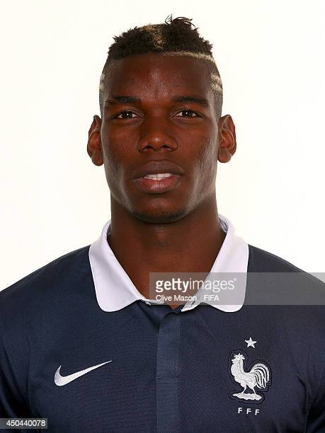 Paul Pogba of France poses during the official FIFA World Cup 2014 portrait session on June 10 2014 in Sao Paulo Brazil