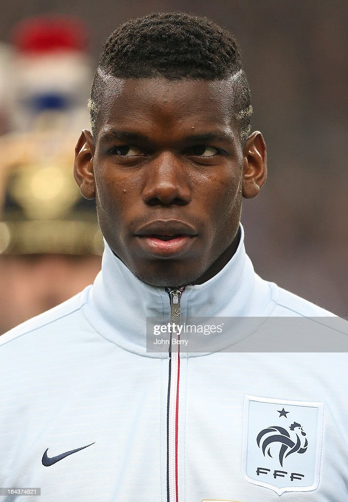 <a gi-track='captionPersonalityLinkClicked' href=/galleries/search?phrase=Paul+Pogba&family=editorial&specificpeople=5805302 ng-click='$event.stopPropagation()'>Paul Pogba</a> of France poses prior to the FIFA 2014 World Cup qualifier match between France and Georgia at the Stade de France on March 22, 2013 in Saint-Denis near Paris, France.