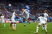 Paul Pogba of France scores his side's second goal during the UEFA Euro 2016 Quarter Final match between France and Iceland at Stade de France on...