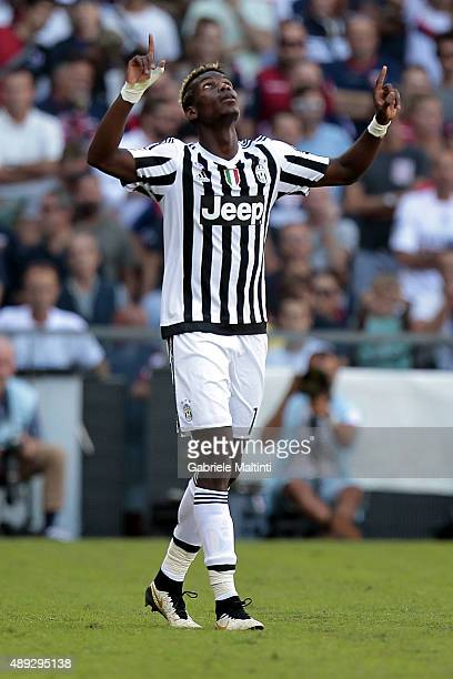 Paul Pogba of Juventus FC celebrates after scoring a goal during the Serie A match between Genoa CFC and Juventus FC at Stadio Luigi Ferraris on...