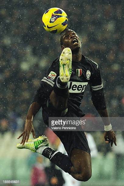 Paul Pogba of Juventus FC in action during the Serie A match between Juventus FC and Bologna FC at Juventus Arena on October 31 2012 in Turin Italy