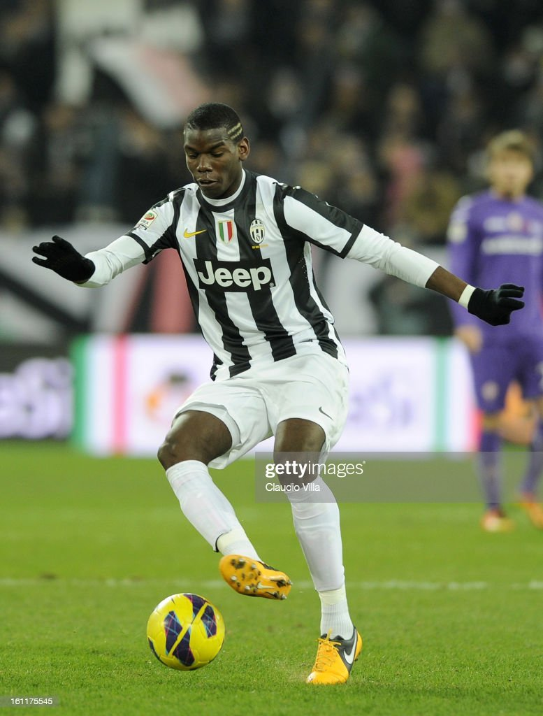 Paul Pogba of Juventus FC in action during the Serie A match between Juventus FC and ACF Fiorentina at Juventus Arena on February 9, 2013 in Turin, Italy.