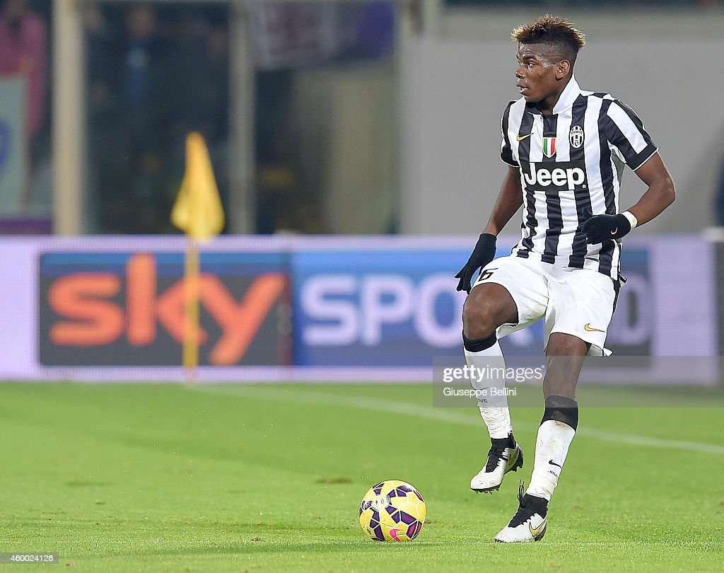 Paul Pogba of Juventus FC in action during the Serie A match between ACF Fiorentina and Juventus FC at Stadio Artemio Franchi on December 5, 2014 in Florence, Italy.