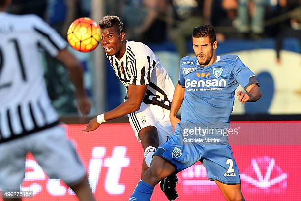 Paul Pogba of Juventus FC in actrion during the Serie A match between Empoli FC and Juventus FC at Stadio Carlo Castellani on November 8 2015 in...