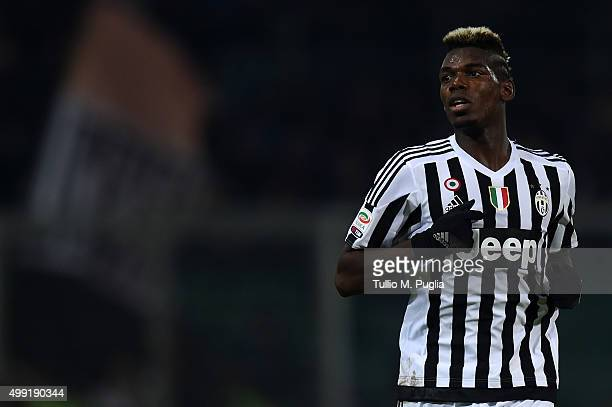 Paul Pogba of Juventus in action during the Serie A match between US Citta di Palermo and Juventus FC at Stadio Renzo Barbera on November 29 2015 in...