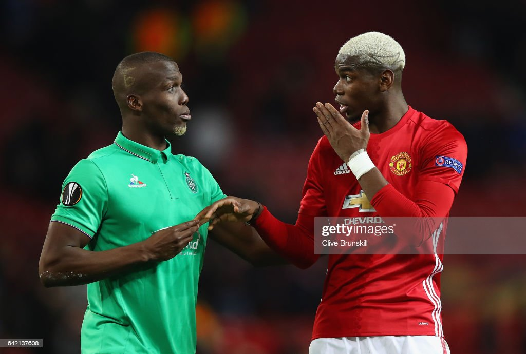 Manchester United v AS Saint-Etienne - UEFA Europa League Round of 32: First Leg : Fotografía de noticias