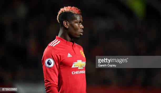 Paul Pogba of Manchester United during the Premier League match between Manchester United and Newcastle United at Old Trafford on November 18 2017 in...