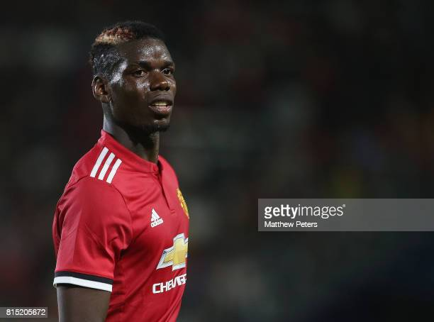 Paul Pogba of Manchester United in action during the preseason friendly match between LA Galaxy and Manchester United at StubHub Center on July 15...