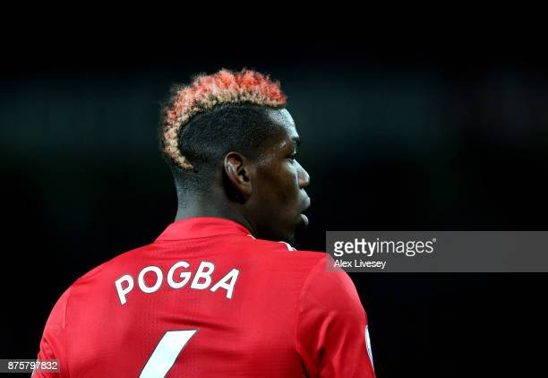 Paul Pogba of Manchester United looks on during the Premier League match between Manchester United and Newcastle United at Old Trafford on November...