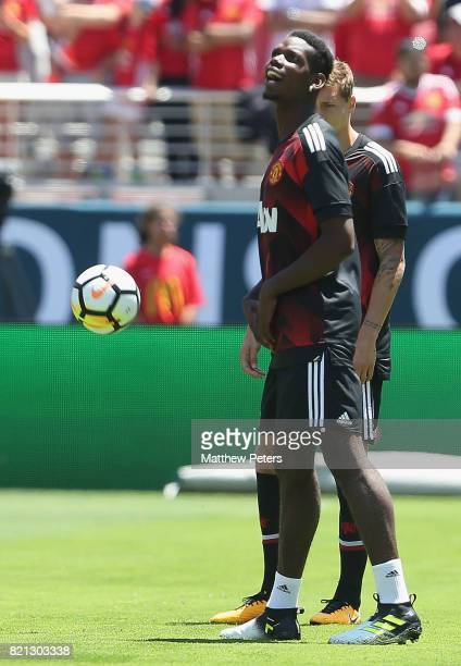 Paul Pogba of Manchester United warms up ahead of the International Champions Cup 2017 preseason friendly match between Real Madrid and Manchester...