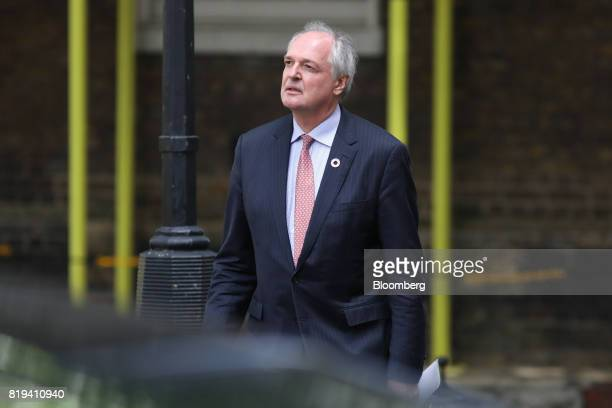 Paul Polman chief executive officer of Unilever NV arrives in Downing Street for a business advisory group meeting in London UK on Thursday July 20...