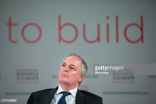 Paul Polman chief executive officer of Unilever Plc listens during a panel discussion at the Business Climate Summit in Paris France on Wednesday May...