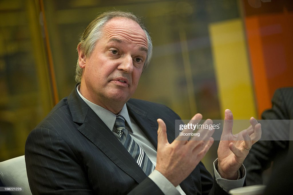 Paul Polman, chief executive officer of Unilever Plc, speaks during an interview in New York, U.S., on Tuesday, Dec. 11, 2012. Unilever, the world's second-biggest consumer-goods company, will sell more parts of its food business as it focuses on faster-growing personal care products and emerging markets, Polman said last month. Photographer: Scott Eells/Bloomberg via Getty Images