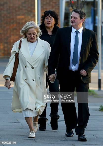Paul Price the stepfather of model Katie Price arriving with his wife Amy at Chichester Crown Court where he is standing trial accused of rape