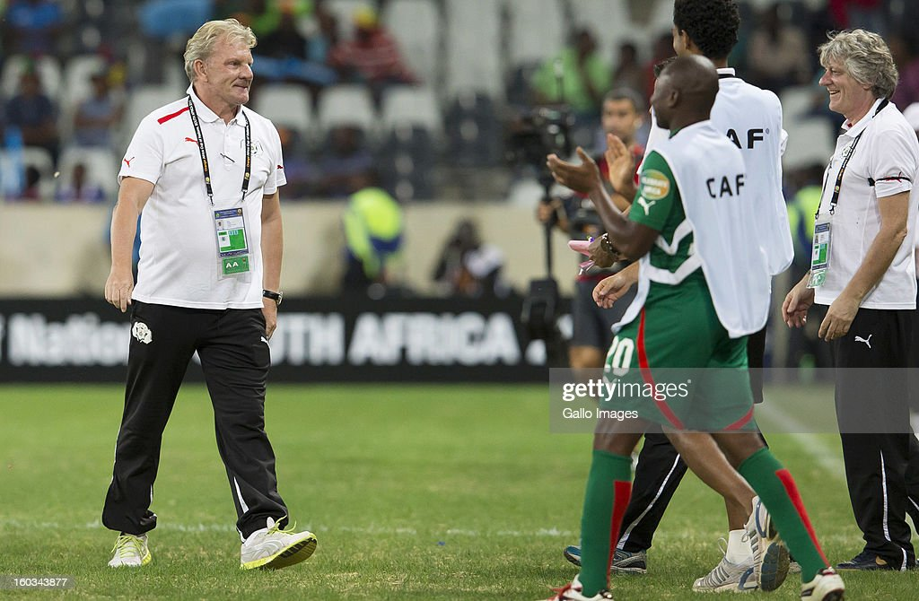 AFRICA - JANUARY 29, Paul Put (Burkina Faso Manager) after the final whistle during the 2013 Orange African Cup of Nations match between Burkina Faso and Zambia from Mbombela Stadium on January 29, 2013 in Nelspruit, South Africa.