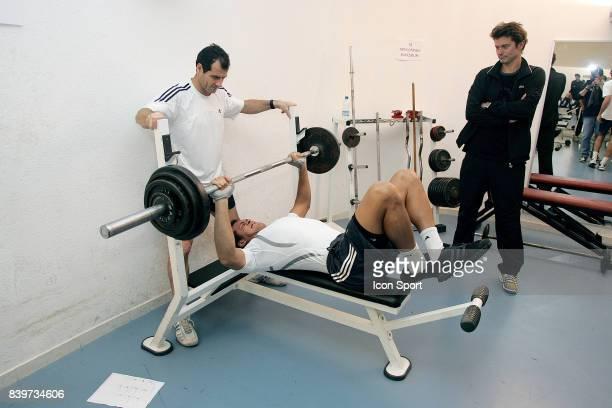 Paul QUETIN / Jo Wilfried TSONGA / Eric WINOGRADSKY Stage physique a Saint Cyprien en preparation de la saison 2008