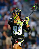 Paul Rabil of the New York Lizards attempts a shot against the Denver Outlaws during their Major League Lacrosse game at Shuart Stadium on July 9...