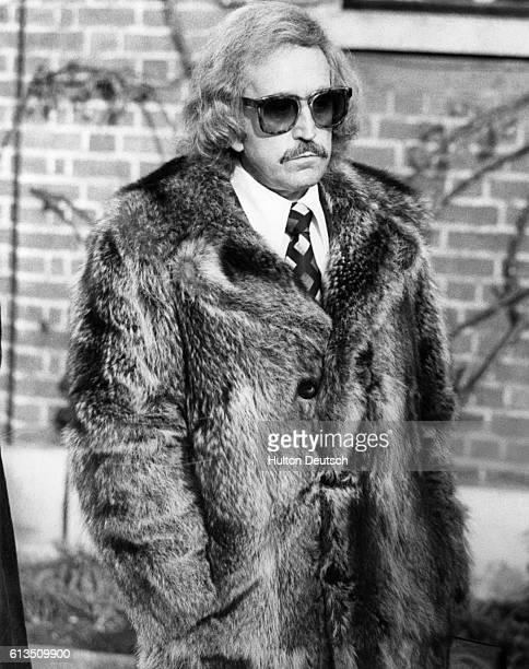Paul Raymond the head of a British pornographic empire at the funeral of the television magician David Nixon in London 1978