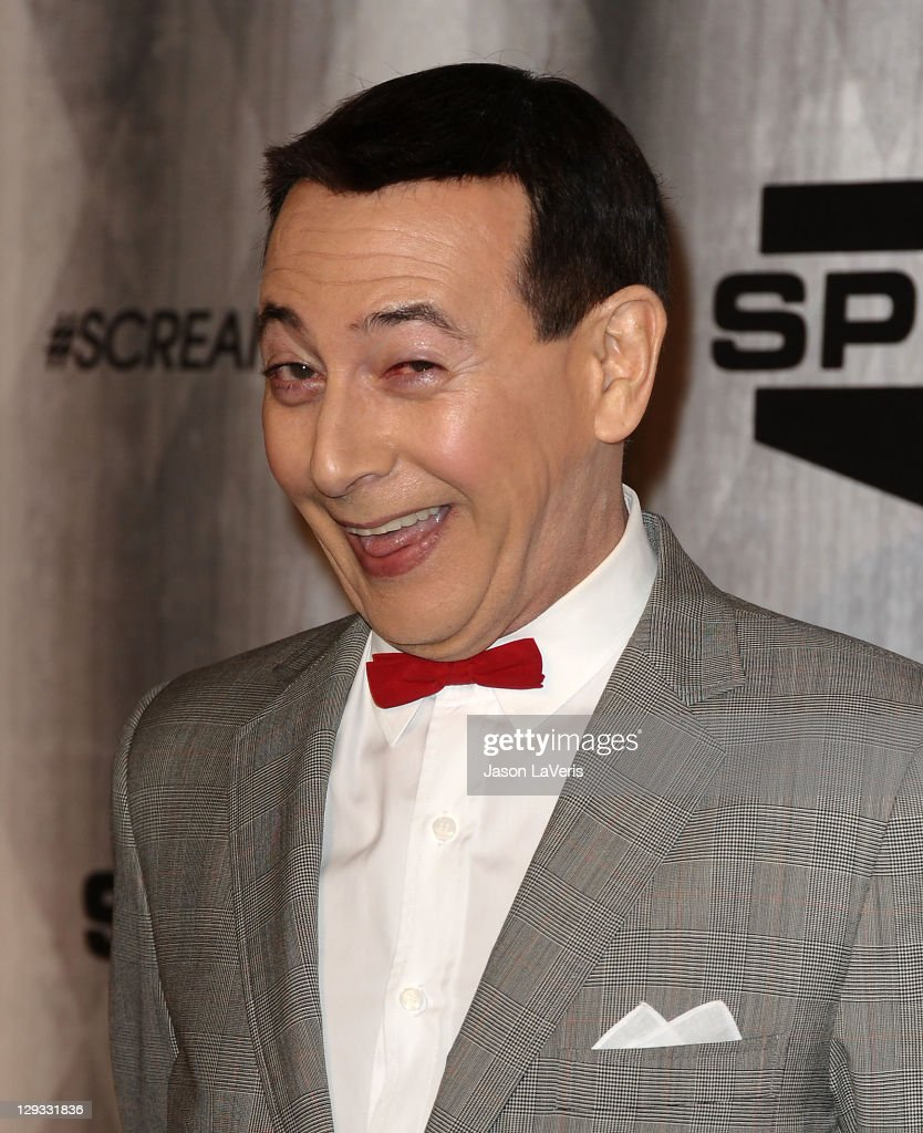<a gi-track='captionPersonalityLinkClicked' href=/galleries/search?phrase=Paul+Reubens+-+Actor&family=editorial&specificpeople=235408 ng-click='$event.stopPropagation()'>Paul Reubens</a> aka Pee-wee Herman attends Spike TV's 2011 Scream Awards at Gibson Amphitheatre on October 15, 2011 in Universal City, California.
