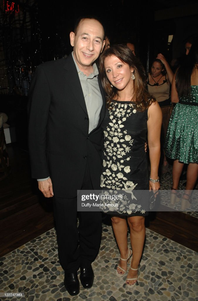Paul Reubens and Cheri Oteri attend the 2010 Los Angeles Film Festival launch dinner held at Red O on June 14 2010 in Los Angeles California