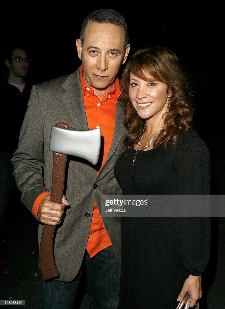 Paul Reubens and Cheri Oteri during 'The Tripper' Los Angeles Premiere Red Carpet and Inside at Hollywood Forever Cemetary in Hollywood California...