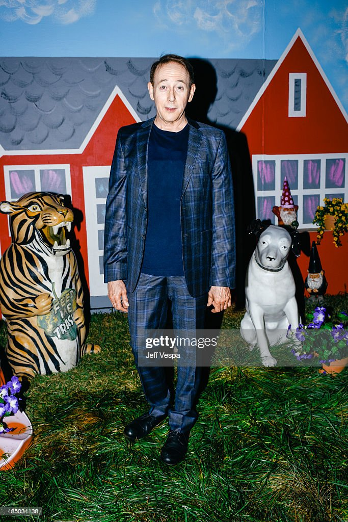 Paul Reubens attends Pee-wee's Big Adventure 30th anniversary screening at Hollywood Forever on August 22, 2015 in Hollywood, California.