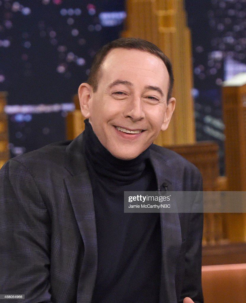 Paul Reubens Visits 'The Tonight Show Starring Jimmy Fallon' at Rockefeller Center on October 29, 2014 in New York City.