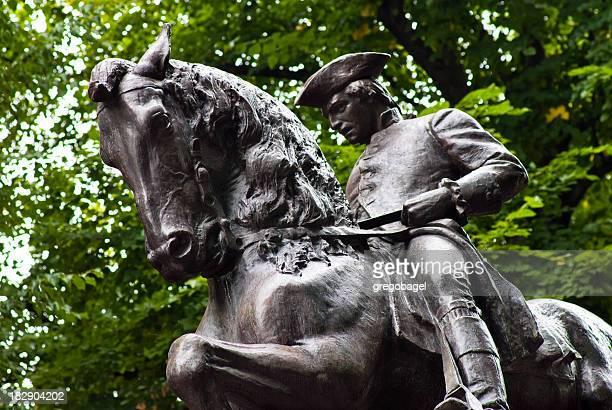 Paul Revere statue in North End Boston, MA