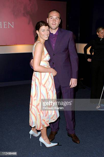 Paul Robinson and wife during 'Hell's Kitchen II' Day 11 Arrivals at Truman Brewery in London Great Britain