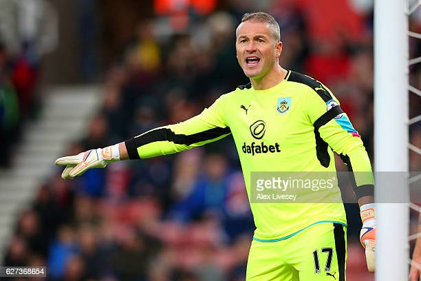 Paul Robinson of Burnley looks on during the Premier League match between Stoke City and Burnley at Bet365 Stadium on December 3 2016 in Stoke on...