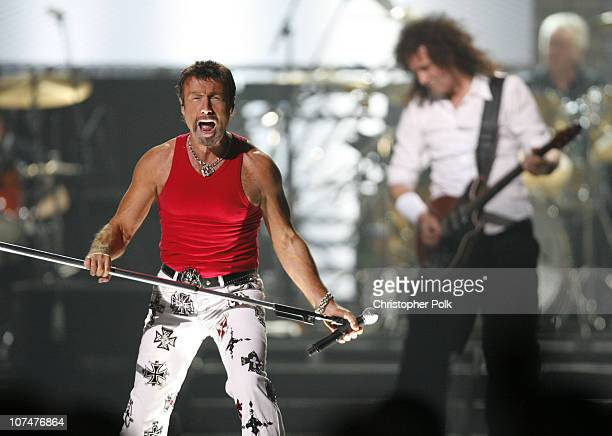 Paul Rodgers and Brian May of Queen during 2006 VH1 Rock Honors Show at Mandalay Bay Hotel and Casino in Las Vegas Nevada United States