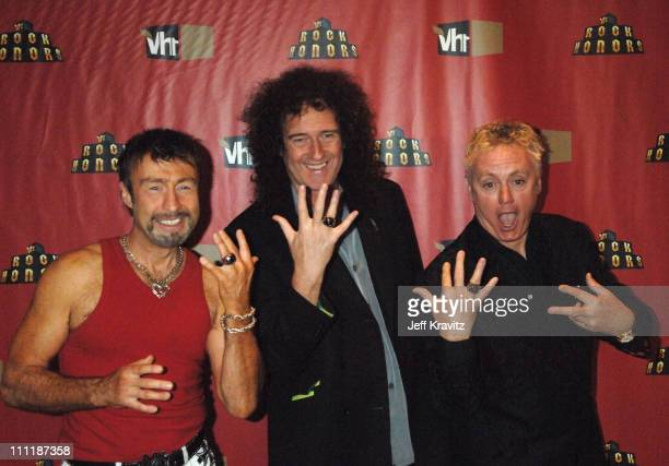 Paul Rodgers Brian May and Roger Taylor of Queen during 2006 VH1 Rock Honors After Party at Mandalay Bay Hotel and Casino in Las Vegas Nevada United...