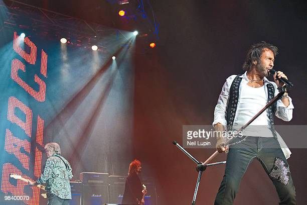 Paul Rodgers of Bad Company performs on stage at Wembley Arena on April 11 2010 in London England